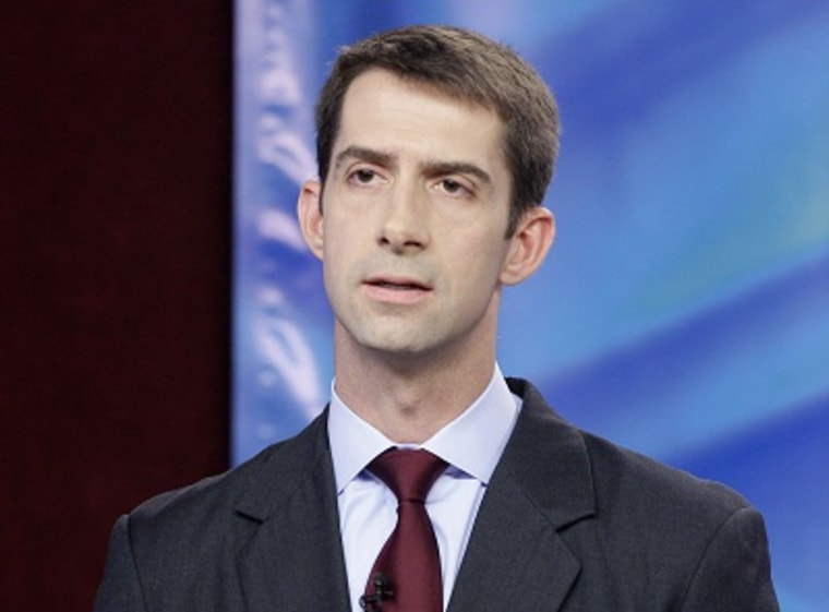 Republican Tom Cotton participates in a congressional debate in Conway, Ark. Thursday, Oct. 25, 2012. (Photo by Danny Johnston/AP Photo)
