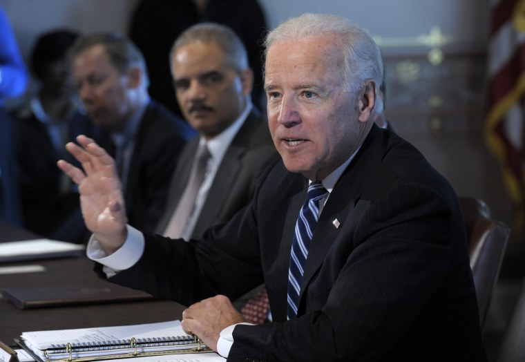 Vice President Biden could have his report on how to tackle gun control before the president as early as Tuesday.(AP Photo/Susan Walsh)