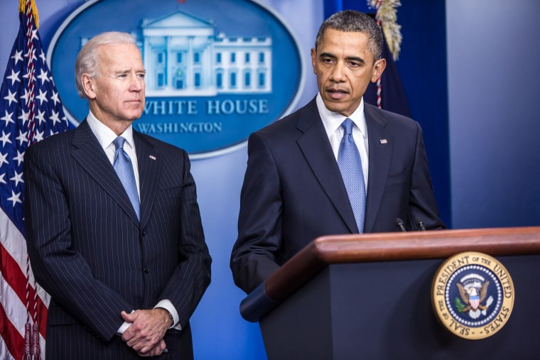 Vice President Biden may hand his gun control recommendations to President Obama tomorrow.(Rex Features via AP Images)