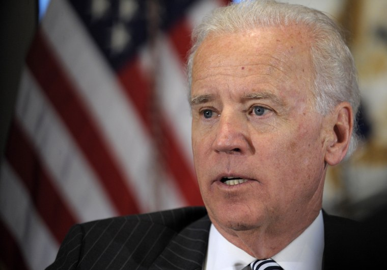 FILE - In this Jan. 11, 2013, file photo, Vice President Joe Biden speaks during a meeting with representatives from the video game industry in the Eisenhower Executive Office Building on the White House complex in Washington. As Biden finalizes a...