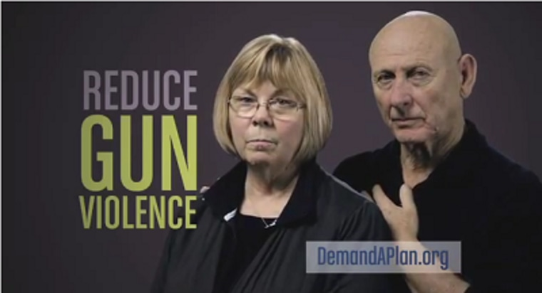 Relatives who lost loved ones to gun violence appear in an television ad pleading for stronger gun control measure on January 14, 2013. (Photo by Mayors Against Illegal Guns/Youtube)