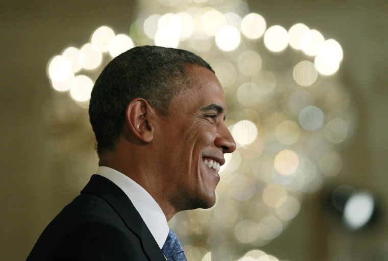 U.S. President Barack Obama is pictured during a news conference in the East Room of the White House in Washington, January 14, 2013. (Photo by Jason Reed/Reuters)