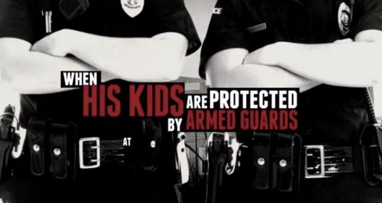 Screenshot from NRA ad