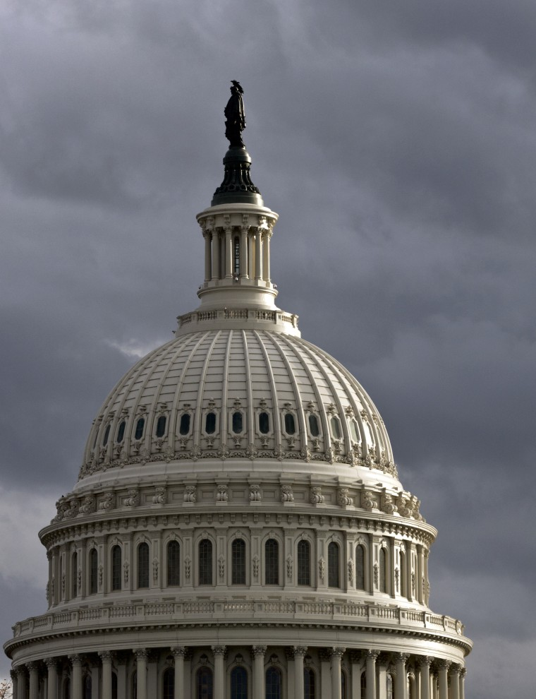 The Capitol is seen at day's end, Saturday, Oct. 20, 2012, in Washington. (AP Photo/J. Scott Applewhite)