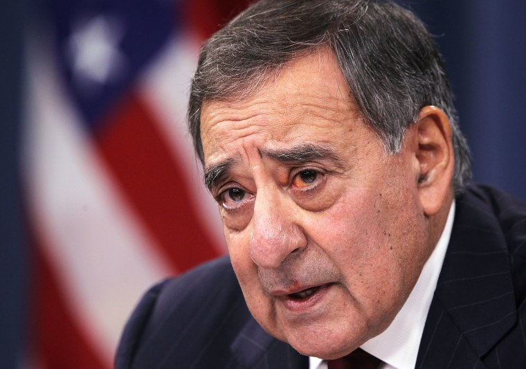 U.S. Defense Secretary Leon Panetta participates in a news briefing at the Pentagon January 10.(Photo by Alex Wong/Getty Images)