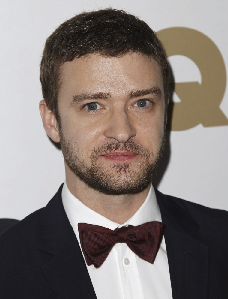 """Justin Timberlake arrives at the 16th annual GQ """"Men of the Year"""" party in Los Angeles, Thursday, Nov. 17, 2011. (AP Photo/Matt Sayles)"""