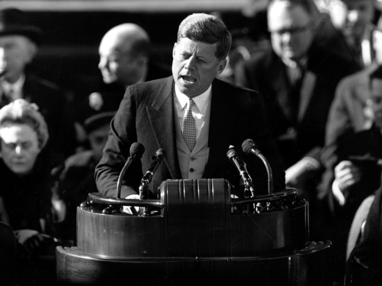 File Photo: U.S. President John F. Kennedy delivers his inaugural address after taking the oath of office at Capitol Hill in Washington, D.C. in this Jan. 20, 1961 file photo.(Photo by AP Photo, File)