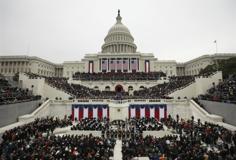 President Barack Obama speaks at the ceremonial swearing-in at the U.S. Capitol during the 57th Presidential Inauguration in Washington, Monday, Jan. 21, 2013. (Photo by Pablo Martinez Monsivai/AP)