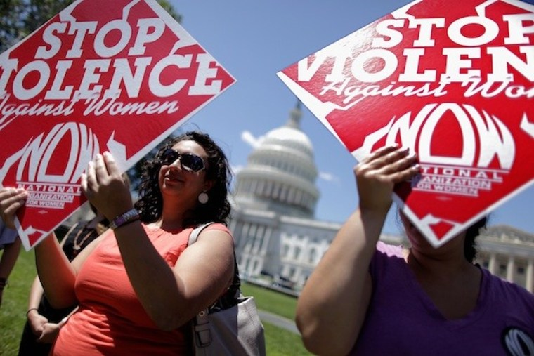 Supporters of the Violence Against Women Act rally in Washington, DC.  (Photo: Chip Somodevilla/Getty Images)