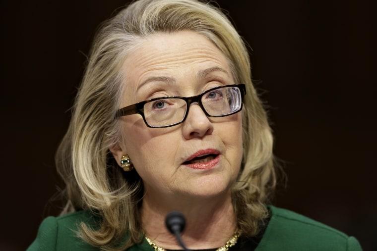 Secretary of State Hillary Clinton testifies on Capitol Hill in Washington, Wednesday, Jan. 23, 2013.  (Photo by J. Scott Applewhite/AP)