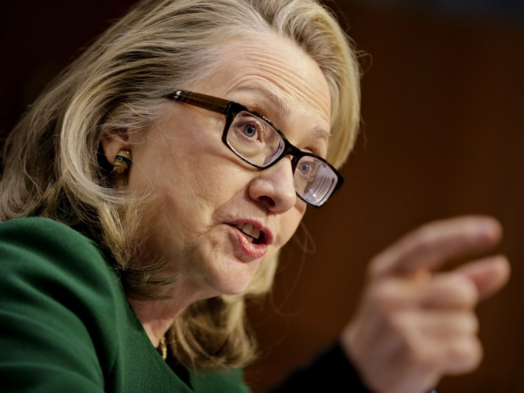 Secretary of State Hillary Clinton testified on Capitol Hill in January before the Senate Foreign Relations Committee hearing on the September attack on the U.S. diplomatic mission in Benghazi. (Photo by J. Scott Applewhite/AP Photo)