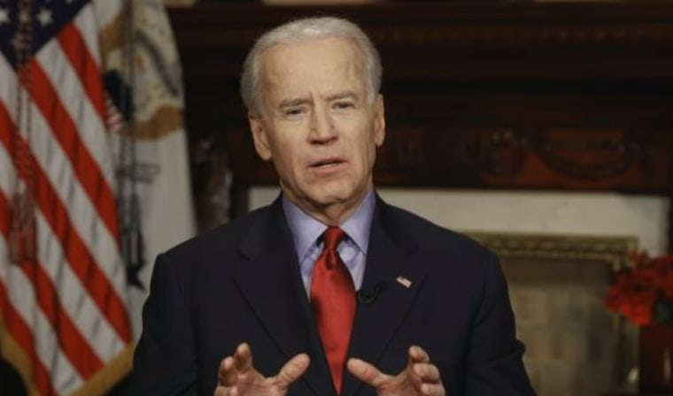 Vice President Joe Biden participates in a Google hangout on gun safety. (Screenshot)
