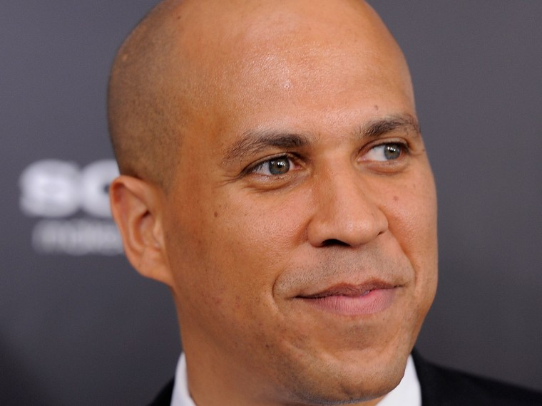 "File Photo: Newark Mayor Cory Booker attends the ""Friends with Benefits"" premiere at the Ziegfeld Theater on July 18, 2011 in New York City.  (Photo by Jemal Countess/Getty Images, File)"