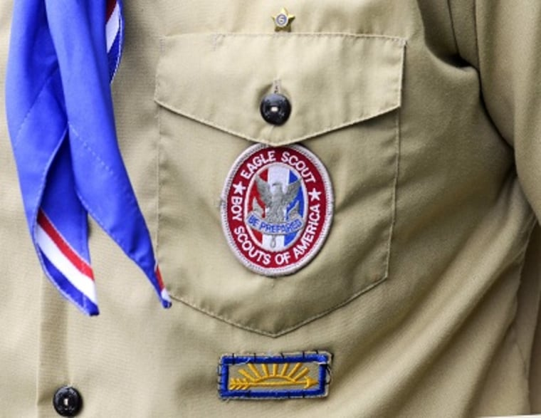 An Eagle Scout patch is pictured in Orlando, Florida. (File Photo by David Manning/Reuters)