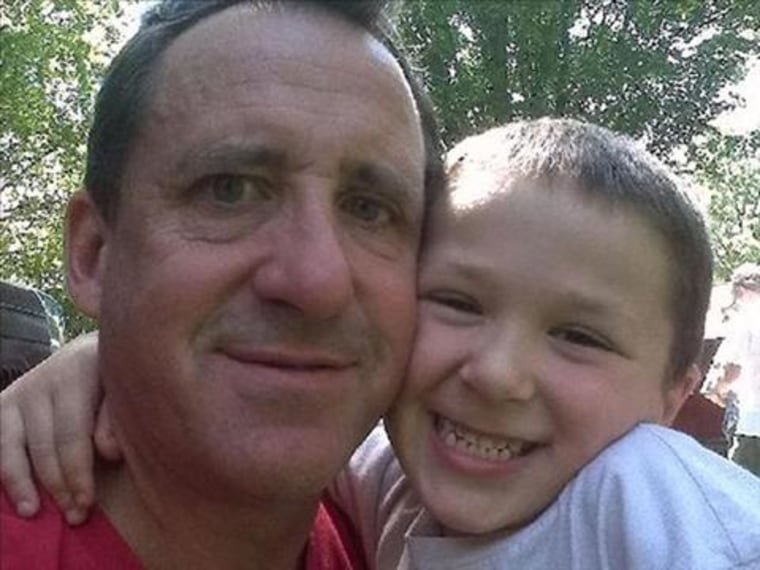 Neil Heslin with son, Jesse Lewis. Jesse, 6, was among the 20 students and six school officials killed on December 14, 2012 in the Sandy Hook Elementary School shooting in Newtown, Ct.