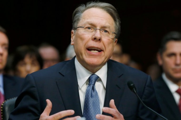 """Wayne LaPierre, fan of Richmond, VA and """"Project Exile."""" (Reuters/Larry Downing)"""