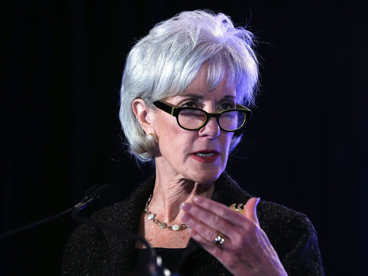 U.S. Secretary of Health and Human Services Kathleen Sebelius speaks during the opening plenary of the National Health Policy Conference organized by The AcademyHealth February 4, 2013 in Washington, DC. Sebelius spoke on the Obama Administration's...
