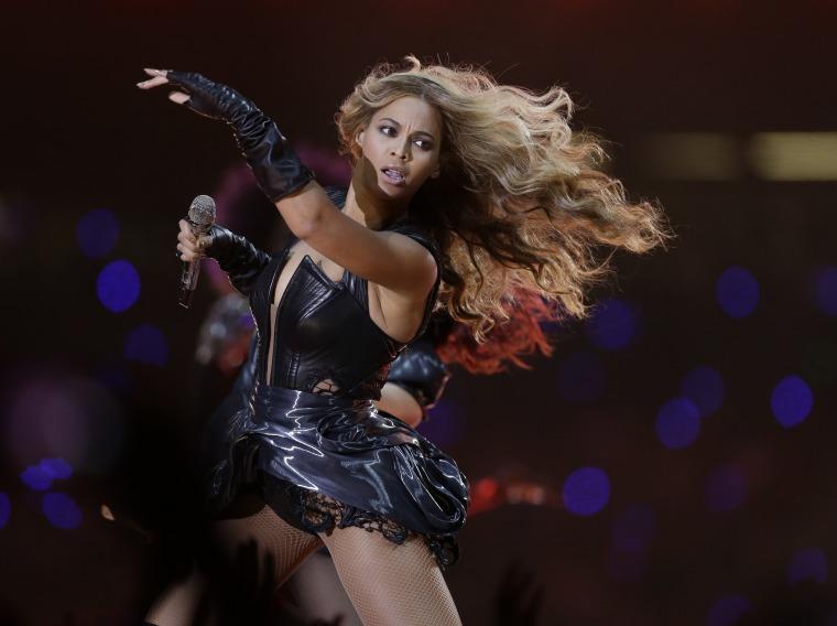 Beyonce performs at NFL Super Bowl XLVII  (AP Photo/Mark Humphrey)