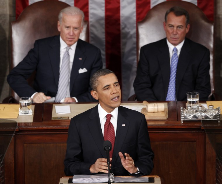 President Obama delivering last year's State of the Union (AP Photo/J. Scott Applewhite)
