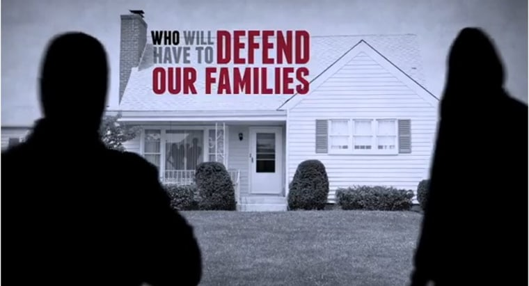 Screenshot of the NRA's new ad criticizing President Obama's push for a 10-round limit for magazines.
