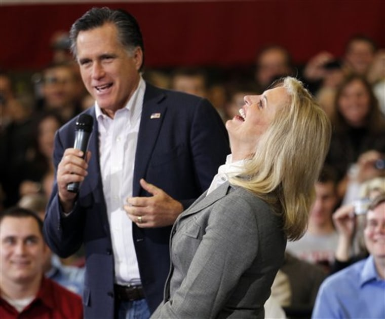Mitt and Ann Romney, seen here from March of last year, do damaging damage control like only they can do during their Sunday interview with Fox News' Chris Wallace. (AP Photo/Gerald Herbert, File)