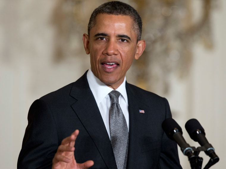 President Obama in the East Room of the White House in Washington, D.C. on March 4, 2013. (Photo by Carolyn Kaster/AP)