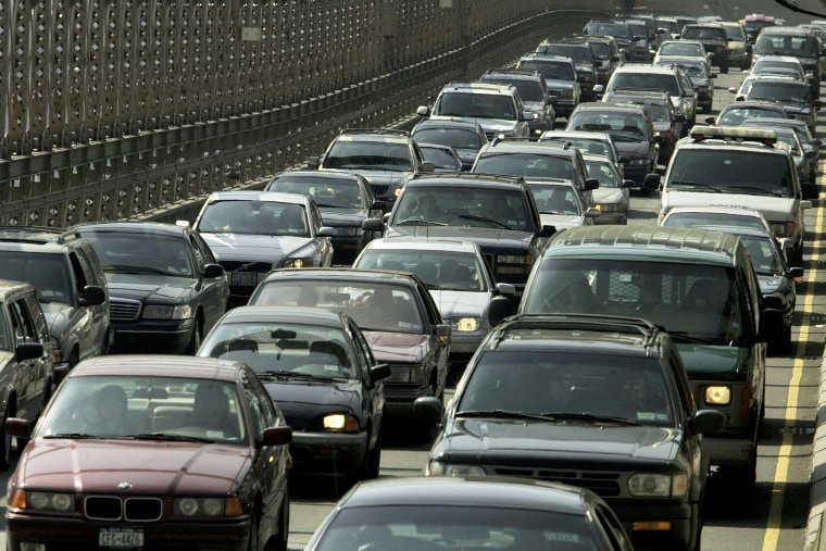"Morning rush-hour traffic jams the Brooklyn Bridge in downtown Manhattan, N.Y., Tuesday, June 14, 2005. OPEC is hoping to ease stubbornly high oil prices and get them down to ""more reasonable"" levels, the group's president said Tuesday ahead of a key..."