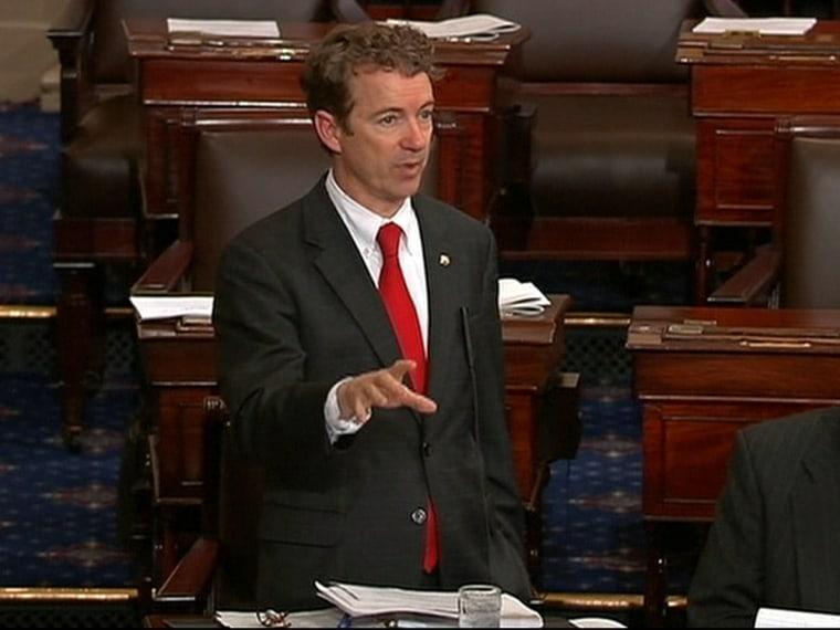 Republican Senator Rand Paul filibustered the nomination of John Brennan for CIA director.