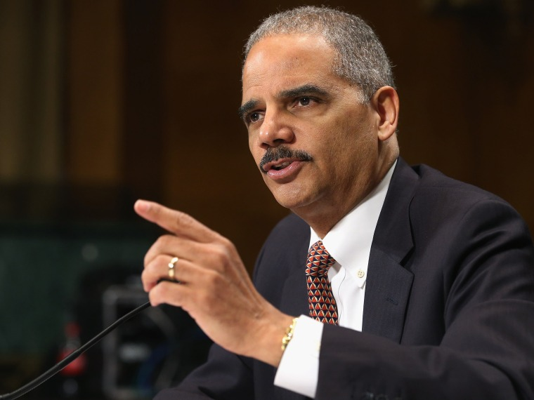 U.S. Attorney General Eric Holder testifies before the Senate Judiciary Committee on  March 6, 2013 in Washington, DC.  (Photo by Chip Somodevilla/Getty Images)