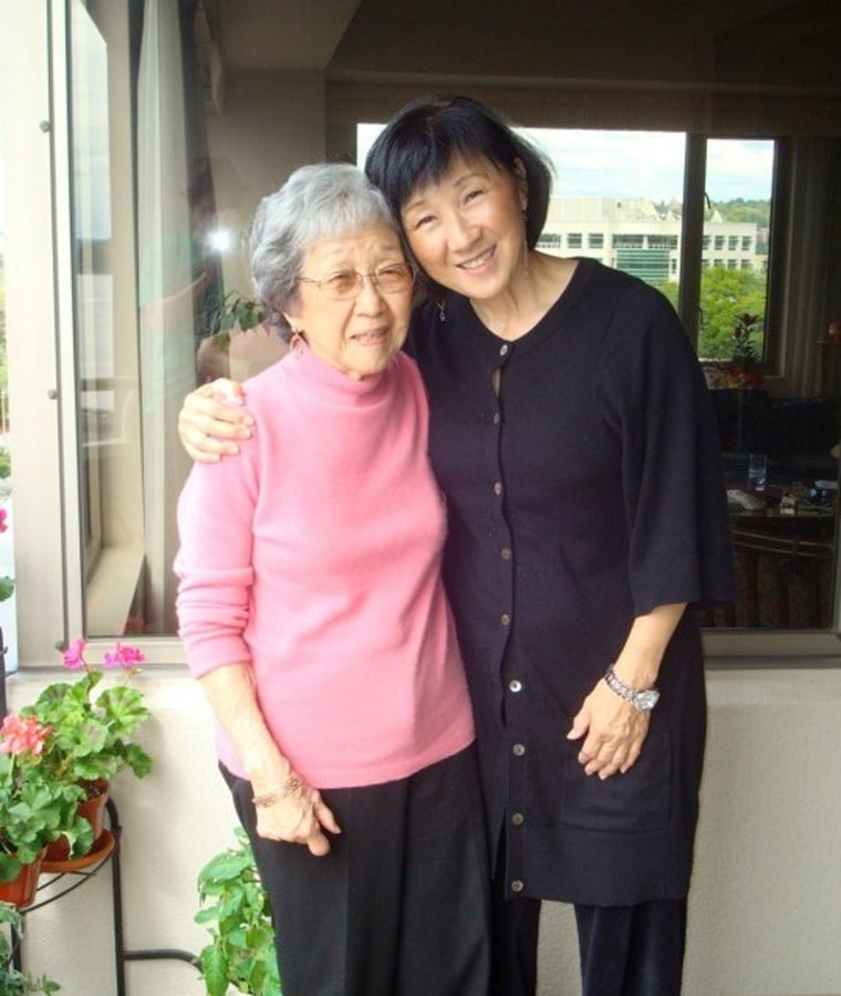 Author's grandmother, Lillian Yamamoto, and mother, Charlotte Oshiro, in Seattle, WA.