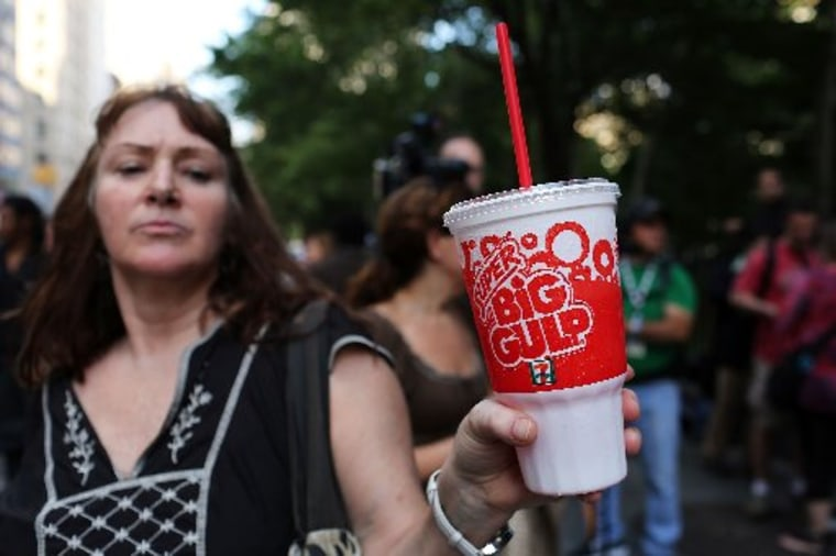 FILE - MARCH 11, 2013: It was reported that a state judge has blocked New York City from moving forward with Mayor Bloomberg's large sugary drink ban which would go in effect March 11, 2013.   (Photo by Spencer Platt/Getty Images)