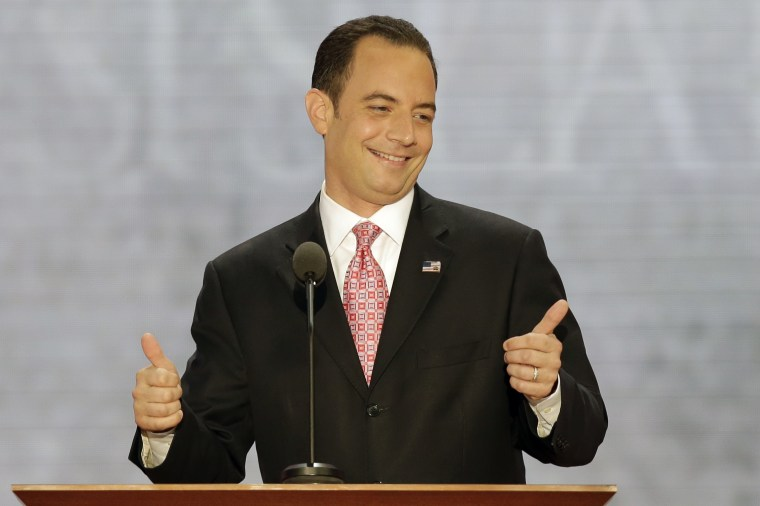 Chairman of the Republican National Committee Reince Priebus flashes a thumbs up (AP Photo/J. Scott Applewhite)