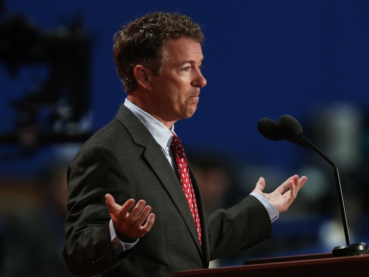 File Photo: U.S. Sen. Rand Paul (R-KY) speaks during the third day of the Republican National Convention at the Tampa Bay Times Forum on August 29, 2012 in Tampa, Florida. (Photo by Win McNamee/Getty Images, File)