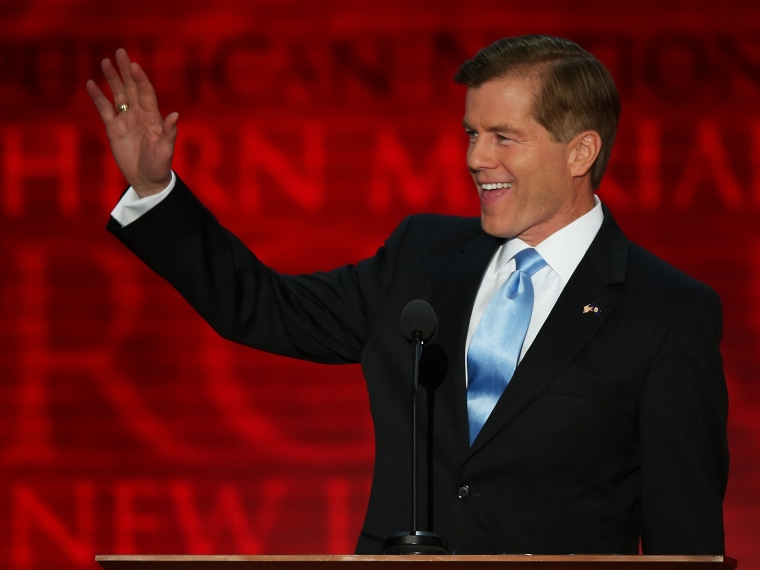 File Photo: Virginia Gov. Bob McDonnell waves as he takes the stage during the Republican National Convention at the Tampa Bay Times Forum on August 28, 2012 in Tampa, Florida. Today is the first full session of the RNC after the start was delayed due...