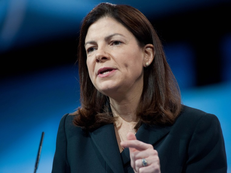 US Republican Senator from New Hampshire Kelly Ayotte speaks at the Conservative Political Action Conference (CPAC) in National Harbor, Maryland, on March 15, 2013.  (Photo by Nicholas Kamm/AFP/Getty Images)