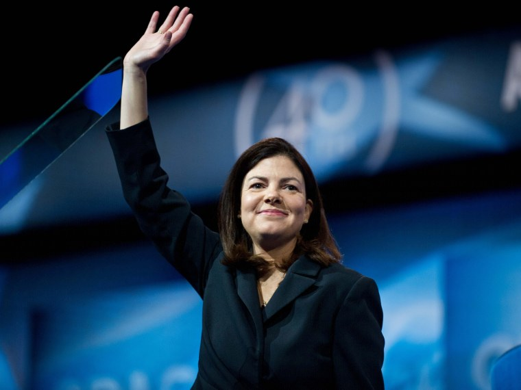 File Photo: Republican Sen. Kelly Ayotte speaks at the Conservative Political Action Conference (CPAC) in National Harbor, Maryland, on March 15, 2013. (Photo by Nicholas Kamm/AFP/Getty Images)