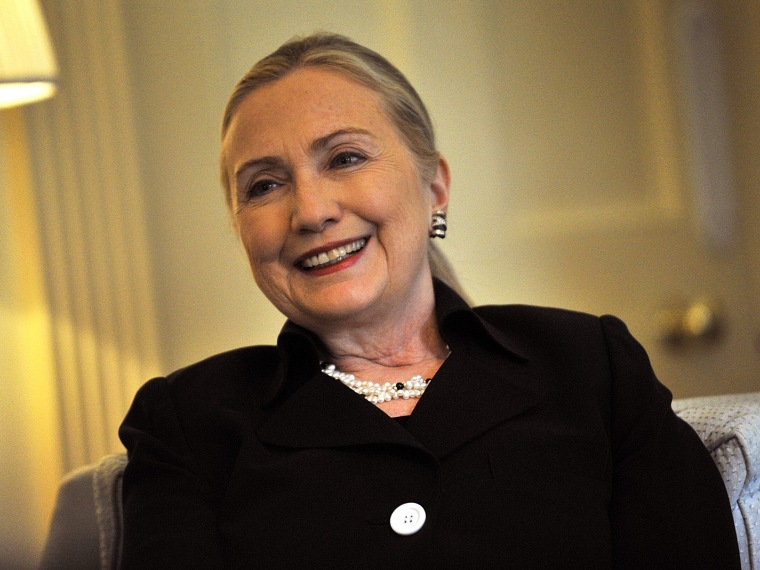 File Photo: U.S Secretary of State Hillary Clinton visits Government House on November 15, 2012 in Adelaide, Australia. Secretary Clinton is in South Australia to tour the Techport maritime defense facility and meet with the Governor and Premier of the...