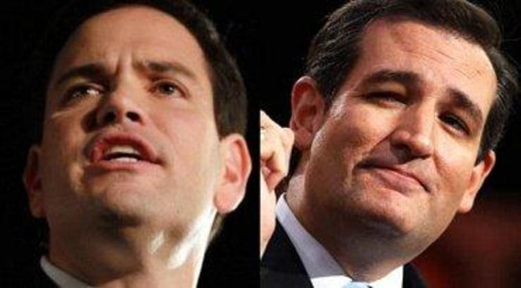 Sens. Marco Rubio (R-Fla.) and Ted Cruz (R-Texas)