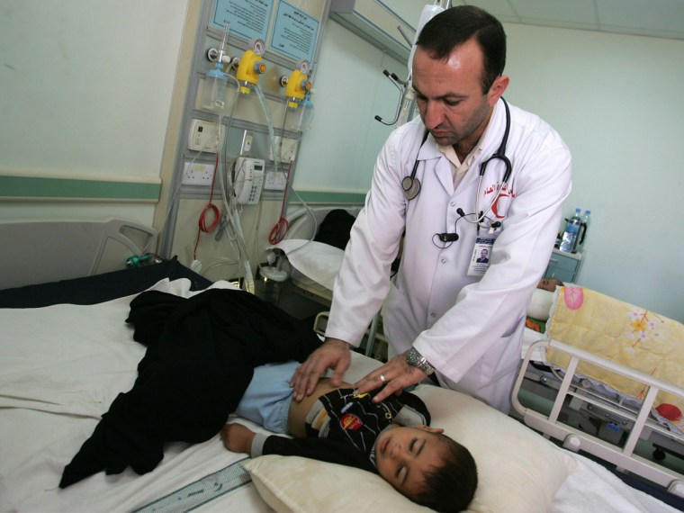 Iraqi Dr. Aiman Qeis is pictured at Fallujah General Hospital on November 12, 2009, in the city of Fallujah west of Baghdad, Iraq. Birth defects have soared in Fallujah, which was the site of two major battles between the U.S. military and insurgents...