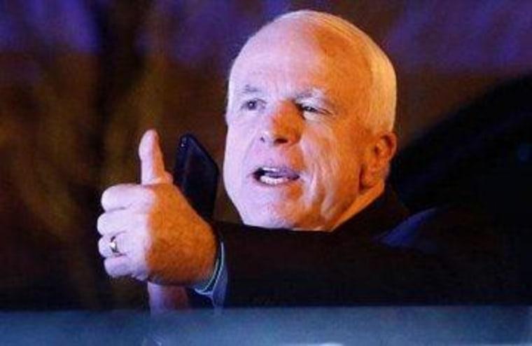 Sen. John McCain (R-Ariz.), after dinner with President Obama last night
