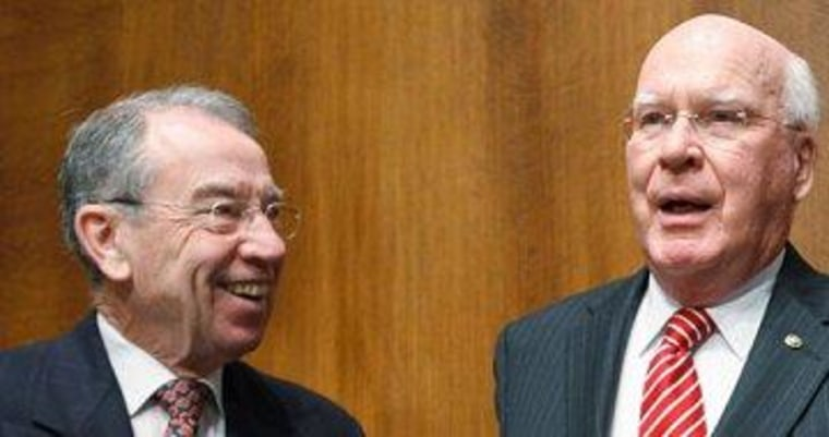 Sens. Chuck Grassley (R) and Pat Leahy (D) help lead the Senate Judiciary Committee