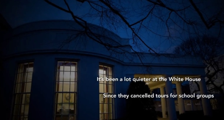 Screenshot from House Oversight and Government Reform Committee Chairman Darrell Issa's new ad attacking the president for ending White House tours.