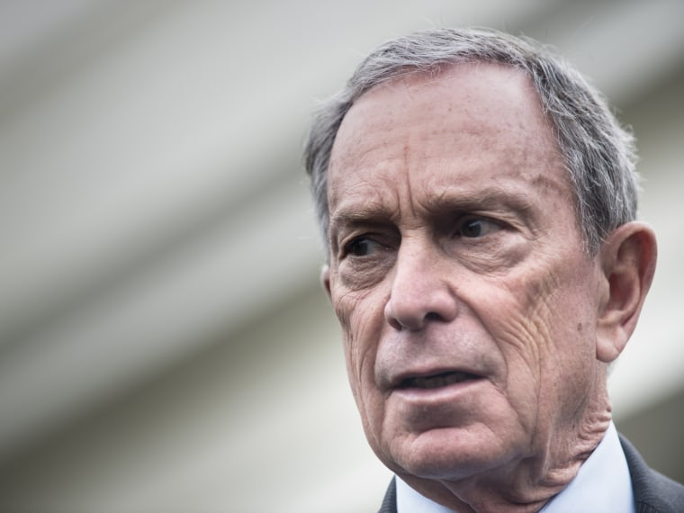 File photo: New York City Mayor Michael Bloomberg speaks to reporters outside the West Wing of the White House after a meeting on February 27, 2013. (Photo by Brendan Smialowski/AFP/Getty Images)