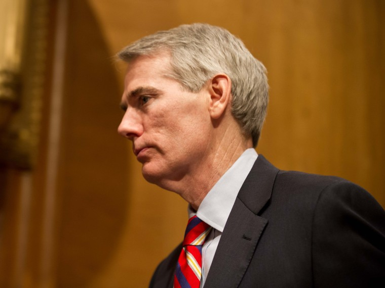 Sen. Rob Portman became the first GOP politician to come out in support of gay marriage last month. (Nicholas KammAFP/Getty Images)
