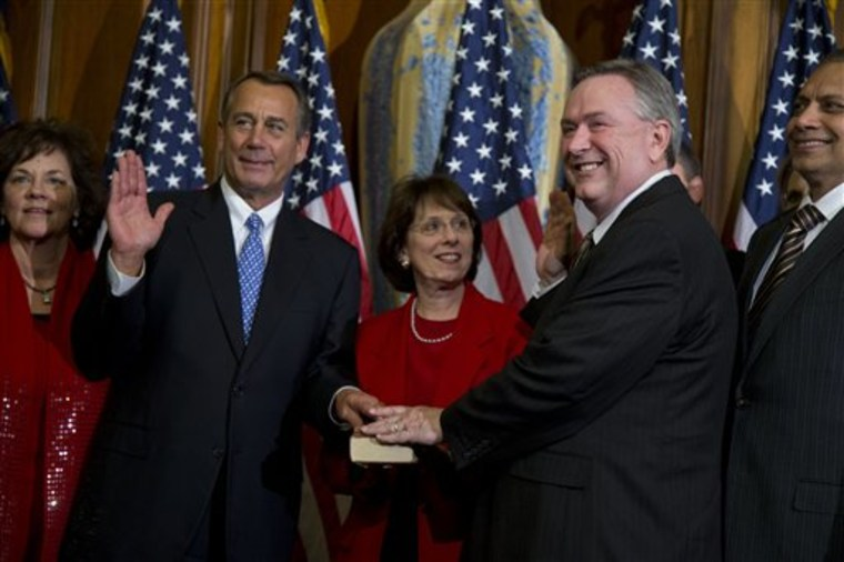 Rep. Steve Stockman's latest offensive remark is by no means his worst. (AP Photo/ Evan Vucci)