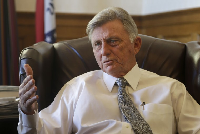 Arkansas Gov. Mike Beebe is interviewed in his office at the Arkansas state Capitol in Little Rock, Ark., Thursday, Jan. 3, 2013. Beebe said he would prefer that legislators consider Medicaid eligibility questions during this year's regular session...