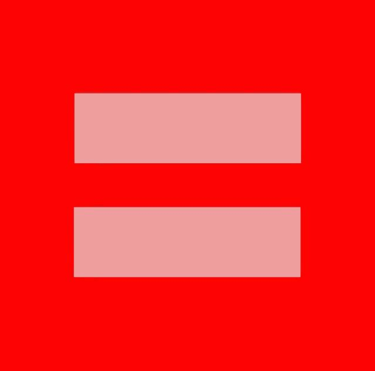 The Human Rights Campaign's new red version of its traditional logo is spreading like wildfire on social media.