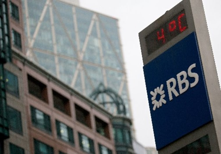 The Royal Bank of Scotland (RBS) London headquarters is pictured on February 28, 2013. (ANDREW COWIE/AFP/Getty Images)