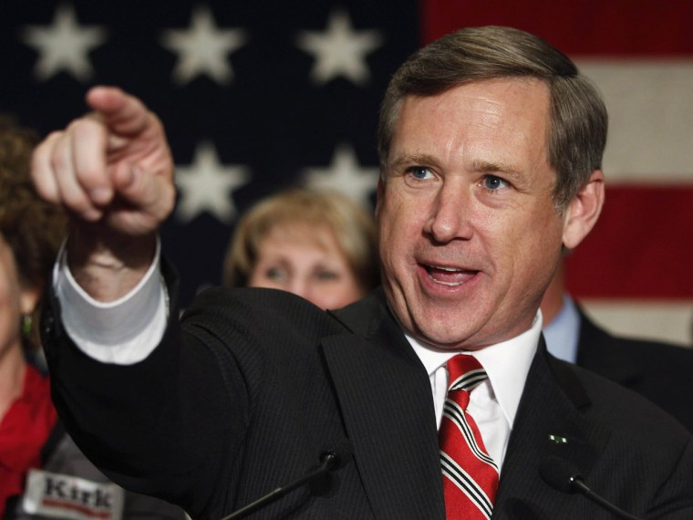 Republican Sen. Mark Kirk became the second Republican to join dozens of Democratic senators who back homosexuals' right to wed. (REUTERS/Jeff Haynes/Files)