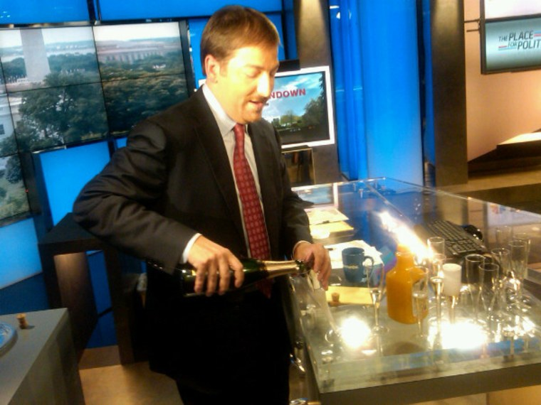 Yes Chuck Todd and I with a champagne toast. Kickin' it like KLG and Hoda.